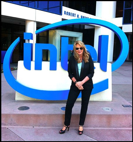Denise Herst, pictured in 2015 at the Intel campus in Chandler, was employed for 35 years with the multinational computer company based in California, in Sillicon Valley. She retired in 2016, when she was a strategic initiatives manger for the company. Since then, Herst has shared her insights on success with high school students in Yavapai County in an annual program sponsored by the Teen Launch Pad in Prescott. (Denise Herst/Courtesy)
