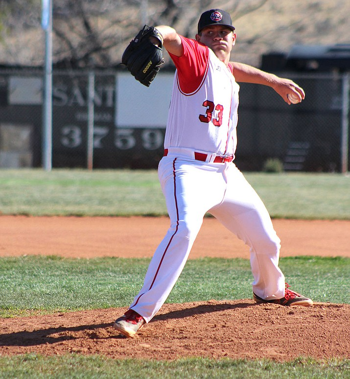 Lee Williams' Matt Bathauer allowed no earned runs on three hits with eight strikeouts and three walks in six innings of work against Flagstaff.
