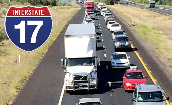 Interstate 17 traffic backups, here at the Highway 169 overpass, are caused by a multitude of issues, ranging from accidents or fires to high volume and a lack of other ways around. (Cindy Barks/Courier, file)