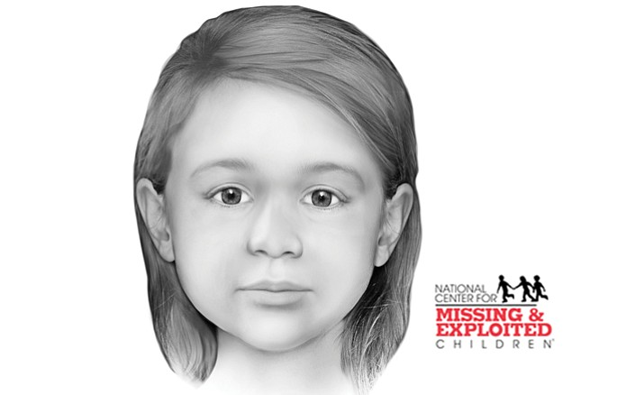 Facial reconstruction from forensic examination of child's remains. (Yavapai County Sheriff's Office/Courtesy)