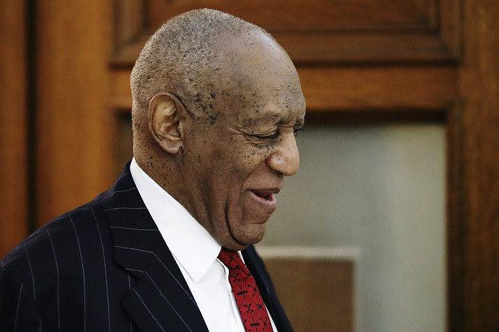 Actor and comedian Bill Cosby leaves the courtroom after a pretrial hearing for his sexual assault case at the Montgomery County Courthouse in Norristown, Pa,. on Friday, March 30, 2018. (Dominick Reuter/Pool Photo via AP)