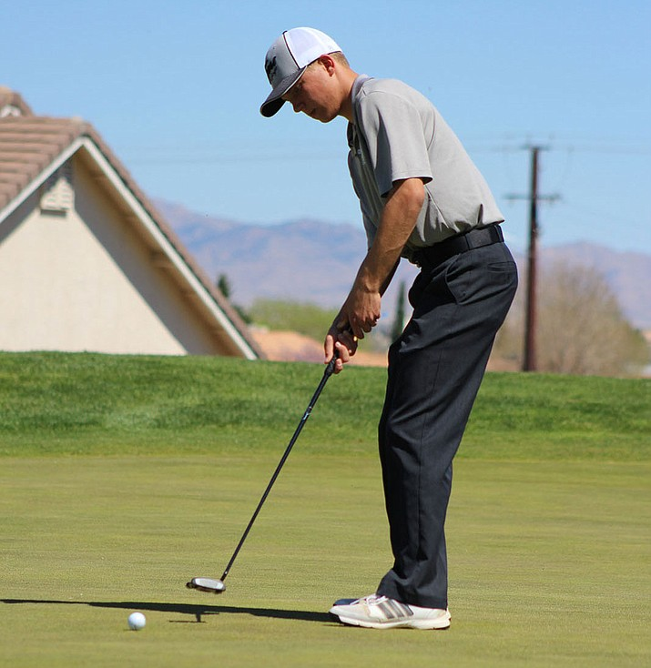 Kingman Academy's Jake Scott shot a 17-over par 161  to finish second at the Tigers Invite.