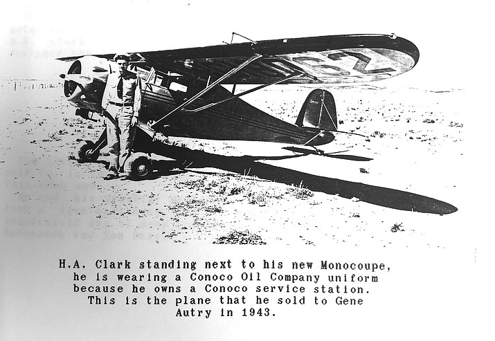 H.A. Clark was instrumental in the development of aviation in Williams. (Williams Historic Photo Archive)