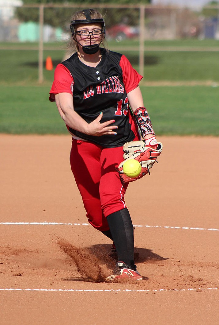 Lee Williams' Kenzie Peterson struck out five Tuesday against Prescott, but it wasn't enough in a 9-4 loss.