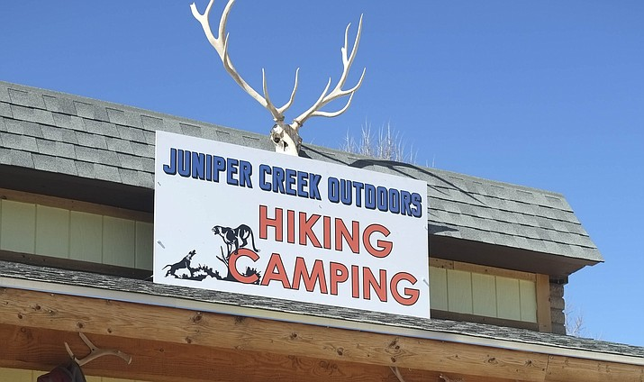 Juniper Creek Outdoor Hiking and Camping is located at 420 West Route 66 in Williams. It is open from 8 a.m. – 6 p.m. and is currently closed on Mondays but the owner plans to be open seven days a week during the summer. (Loretta Yerian/WGCN)