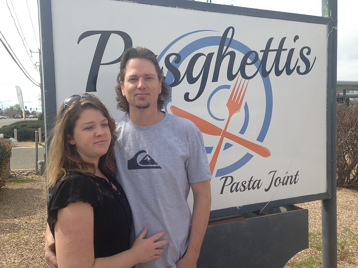 Nathan and MaryAnn Haverstock of Chino Valley turned their love of Italian food into Pasghettis Pasta Joint. (Diane DeHamer/Courtesy)