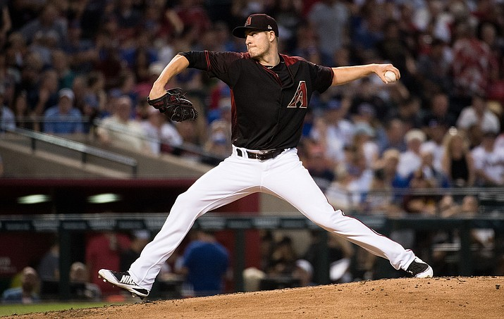 Arizona's Patrick Corbin retired 14 batters in a row to start the game Wednesday against the Dodgers.
