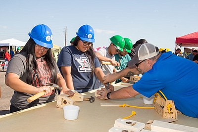 Participants in the 2017 Construction Career Day. (Lori P Figueroa/Courtesy of Association for Construction Career Development)