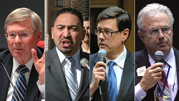 Rep. Vince Leach, R-Tucson; Sen. Martin Quezada, D-Glendale; Sen. Steve Farley, D-Tucson; and Rep. Noel Campbell, R-Prescott.