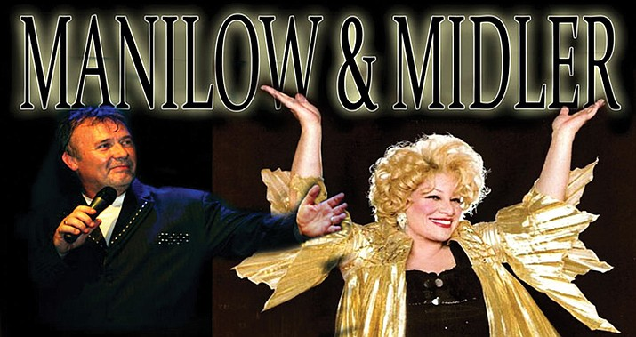 Terry Davies, Manilow, and Sherie Rae Parker, Midler, are some of the premier impersonators in the business. (Courtesy)