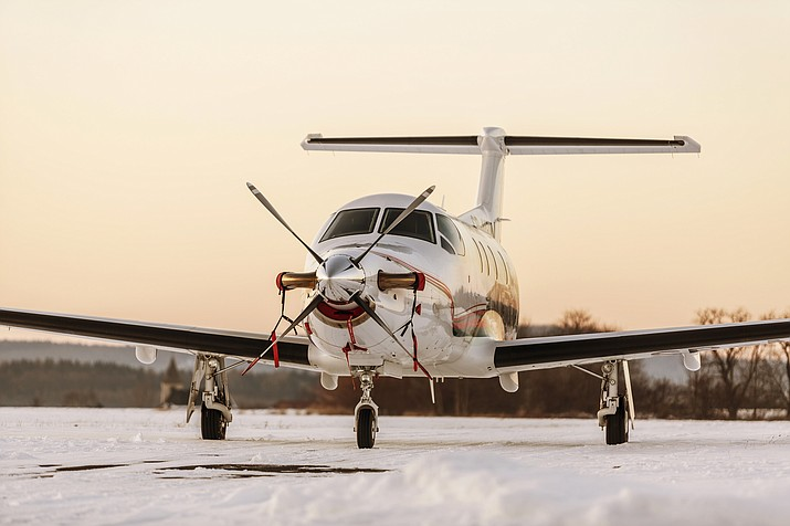 A Pilatus PC-12 airplane that could serve Prescott Municipal Airport in the near future. (Stock/Courier)