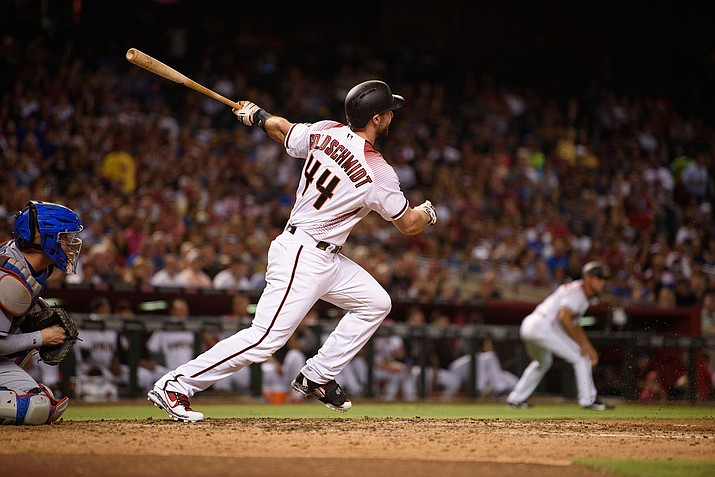 Arizona's Paul Goldschmidt hit a tying solo homer to left-center with two outs in the ninth, but the D-backs fell to the Giants Tuesday night.