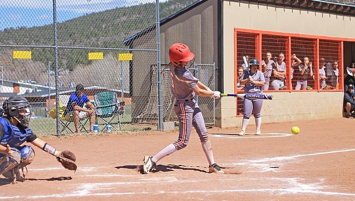 Lady Vikes softball loses close 5-4 battle with Bagdad April 6