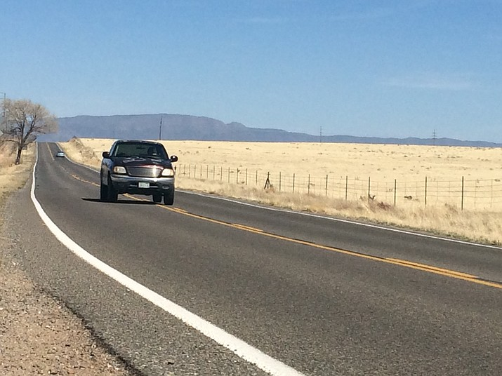 A section of Outer Loop Road, part of which was identified by the Chino Valley Roads & Streets Committee as needing a chip seal treatment in January 2018. (Jason Wheeler/Review)