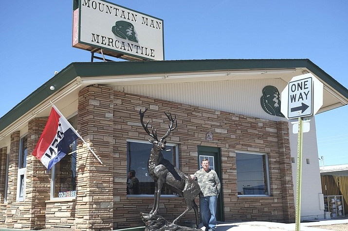 Mark Roggenbuck opened Mountain Man Mercantile March 1 in downtown Williams. (Loretta Yerian/WGCN)