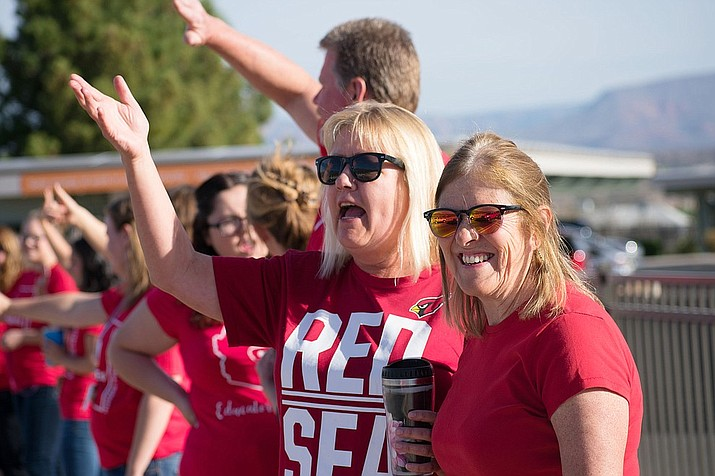 The demand for more education spending includes better pay for teachers and more classroom funding. Arizona elementary teachers are paid 14 percent less than in 2001 when accounting for inflation, according to education advocacy group Expect More Arizona.  (VVN/Halie Chavez)