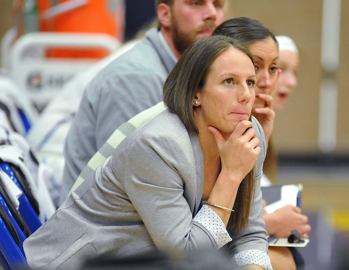 Former Embry-Riddle head women's basketball coach Becky Burke stepped down from her position Wednesday, April 11, 2018, and was named the new head women's coach at the University of Charleston in West Virginia. Burke was 35-18 in two years at Embry-Riddle. (Les Stukenberg/Courier, File)
