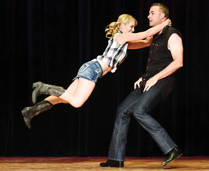 Brad Fain and Kelly Robertson dance to 'That's My Kind of Night' during the 'Dancing for the Stars' 2017 benefit for the Boys & Girls Clubs of Central Arizona, Friday, April 21, at the Elks Opera House in Prescott.