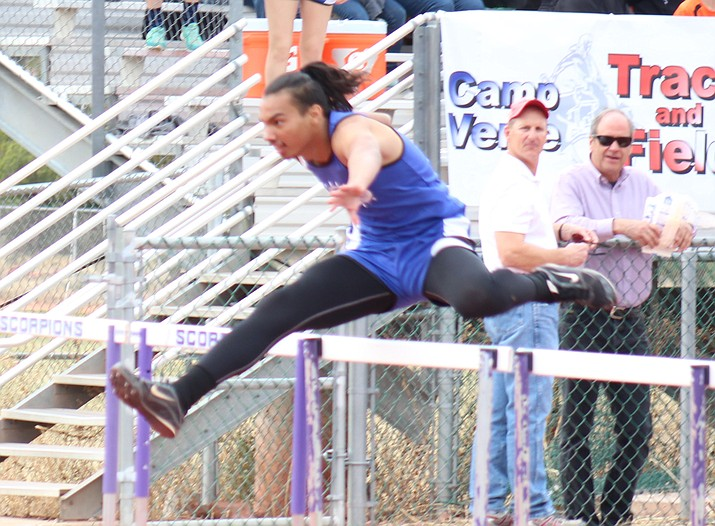 Camp Verde's Christopher Holdgrafer is one of the best in Arizona this year. A junior, Holdgrafer is ranked 4th in the state among Division 4 hurdlers with a best time of 16.08 seconds. He ranks 11th in the state in the 300-meter hurdles at 43.77 seconds.