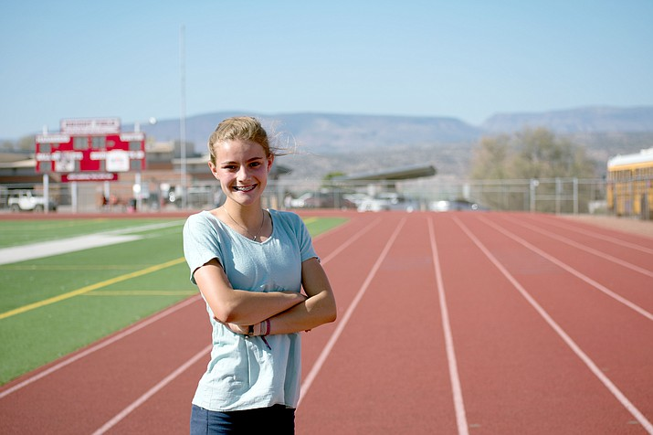 Mingus Union junior Meg Babcock is ranked second in the state in the 800 meters and sixth in the 400. (VVN/Halie Chavez)