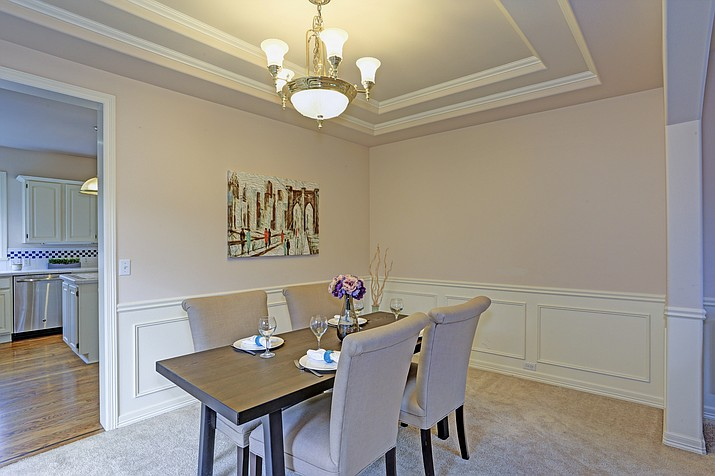 A dining room with a tray ceiling. (Courier, file)