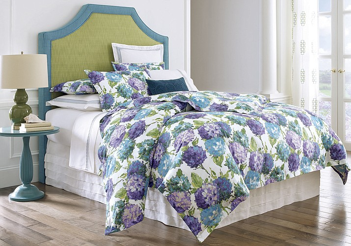 A photo provided by Company C, Inc. shows Hydrangea Bedding. (Company C via AP)