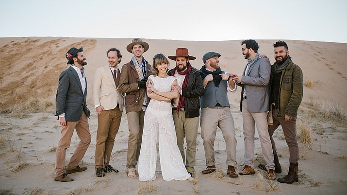 The members of Dustbowl Revival coming back to the Elks Theatre. (Courtesy)
