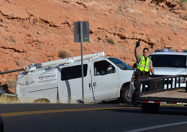 YCSO deputies were dispatched to a multiple-vehicle collision on Cornville Road yesterday. (VVN/Vyto Starinkas)