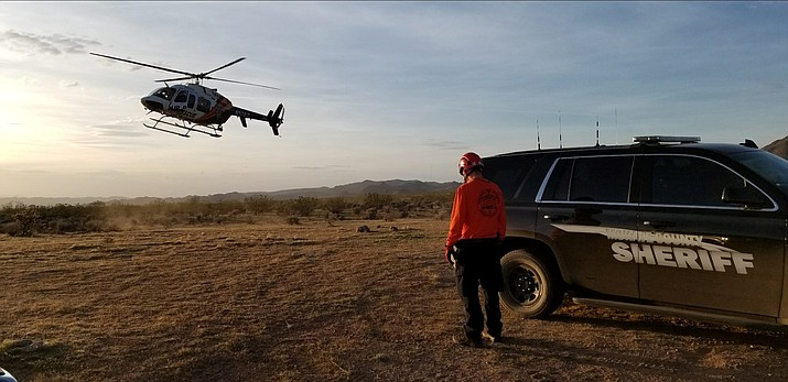 DPS Ranger and Mohave County Sheriff's Office teamed up Tuesday to rescue a hiker at Mount Tipton Peak in Dolan Springs.