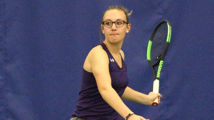 Kingman High graduate Cortney McCans recently played her final regular season match at University of Sioux Falls.