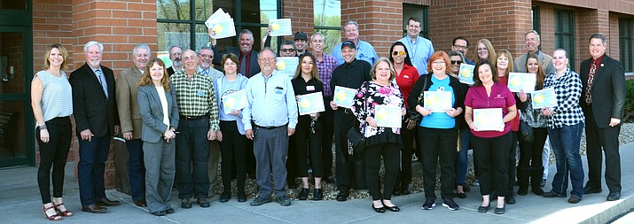 Yavapai County Community Health Service honors eating establishments in the quad-city area with its Golden Plate award at the Yavapai County Board of Supervisors meeting April 4. (David McAtee/Courtesy)
