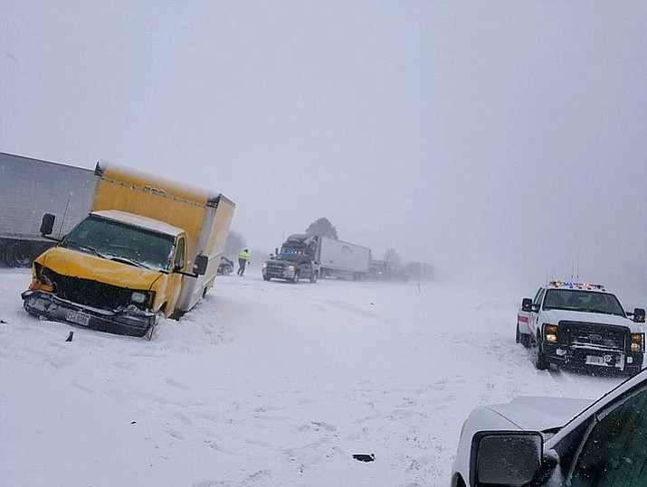 A storm has blasted central U.S. causing treacherous road conditions and killing at least three people. (Photo courtesy Nebraska State Patrol)