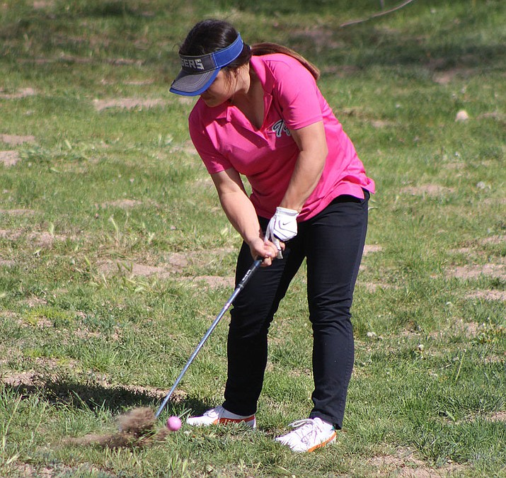 Kingman Academy's Amanda Villeso shot an 18-over par 54 to tie for fourth at Cerbat Cliffs Golf Course.