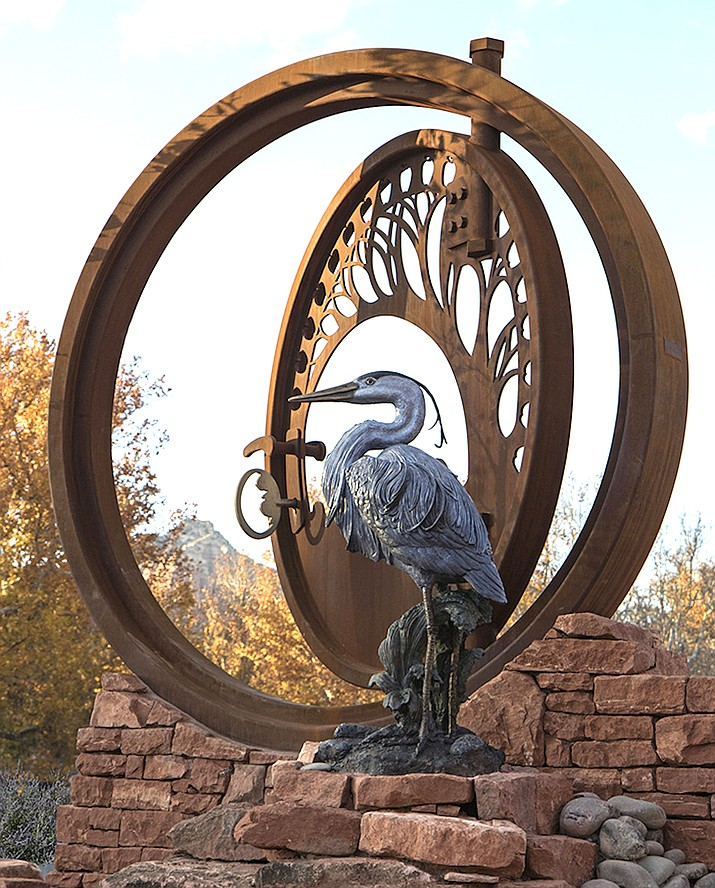 "Reagan Word's ""The Open Gate"" at the Schnebly Road roundabout majestically welcomes people to Sedona. Courtesy photo"