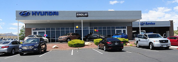 Findlay is closing its Hyundai dealership, and Findlay's Subaru dealership is using the building while Findlay's new showroom is being built. (Les Stukenberg/Courier. File)