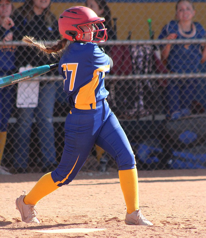 Kristen Heitzman connected on a bases-loaded single to give Kingman a 6-5 win over Chino Valley in the eighth inning Tuesday.
