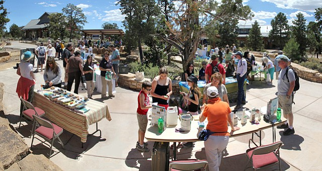 Visitors enjoy a previous Earth Day celebration at the Grand Canyon Visitor Center. (Erin Whittaker/NPS)