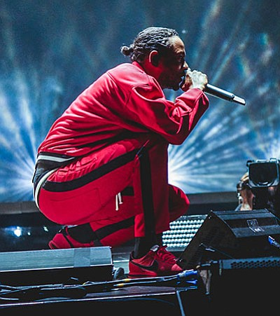 Kenrick Lamar at a concert in 2017. Lamar wone the Pulitzer Prize for music this year.