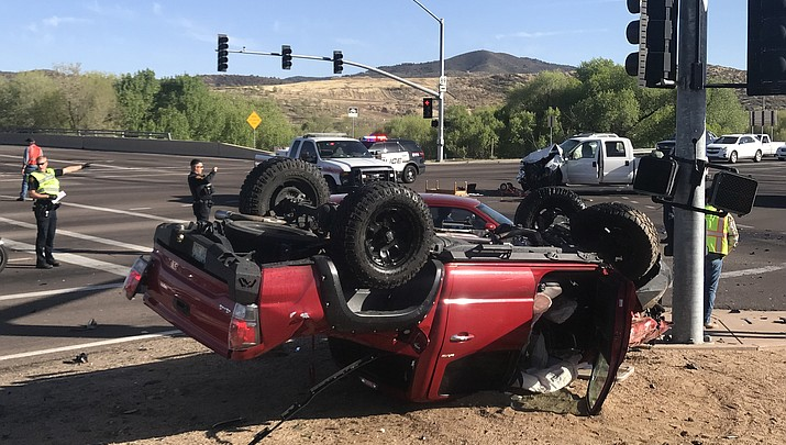 Two vehicle wreck blocks southbound Highway 89
