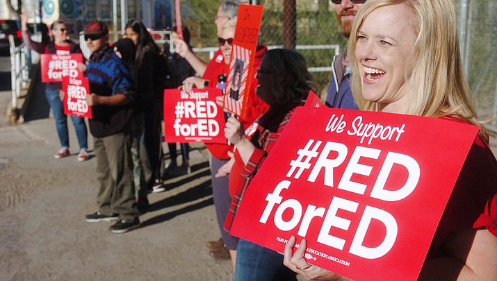 Educators stage another walk-in