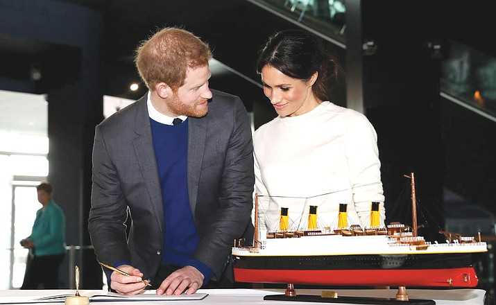 Prince Harry and Meghan Markle visit Titanic Belfast March 23.