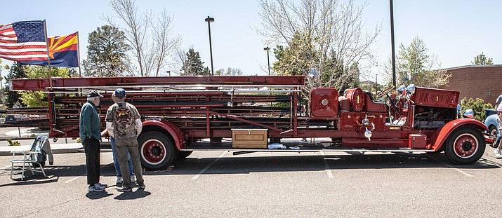 Prescott's first fire truck, pictured, will be at the Cruise in for the Veterans car show at Yavapai College Saturday, April 21. (Don Jones/courtesy)