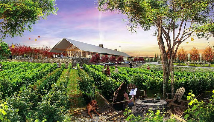 The proposed wine-themed project is planned to include more than 2,000 residential units, according to council documents. Major commercial development is also planned near the intersections of Bill Gray Road, Cornville Road and the Mingus Avenue Extension which will include indoor and outdoor community recreational services, a wine center and vineyards. Courtesy photo