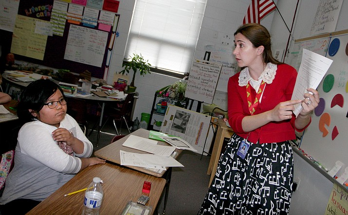 "Calliandra Brooks says that as third grade teacher at Camp Verde Elementary School, she encourages her students ""to build a growth mindset which allows them to take risks and work as hard as possible."" (Photo by Bill Helm)"