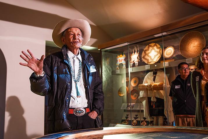 Jones Benally who spoke to gathered members of the Hopi, Navajo, Havasupai, Yavapai, Apache, Ute and Paiute nations. (Ryan Williams Photography)