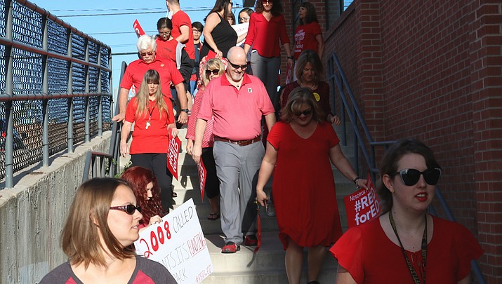 KUSD teachers walk in Tuesday, grudgingly ready for Thursday's walkout