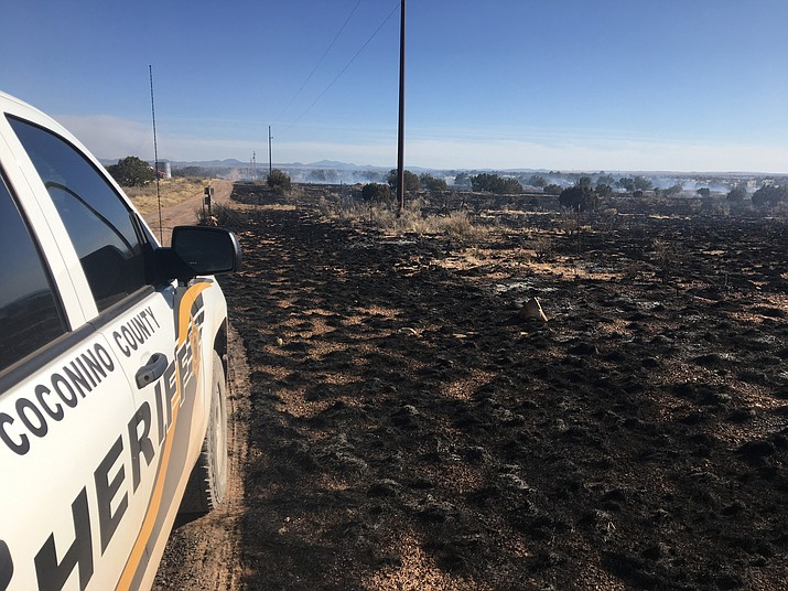Firefighters battled a 100-acre wildland fire near Valle April 23.