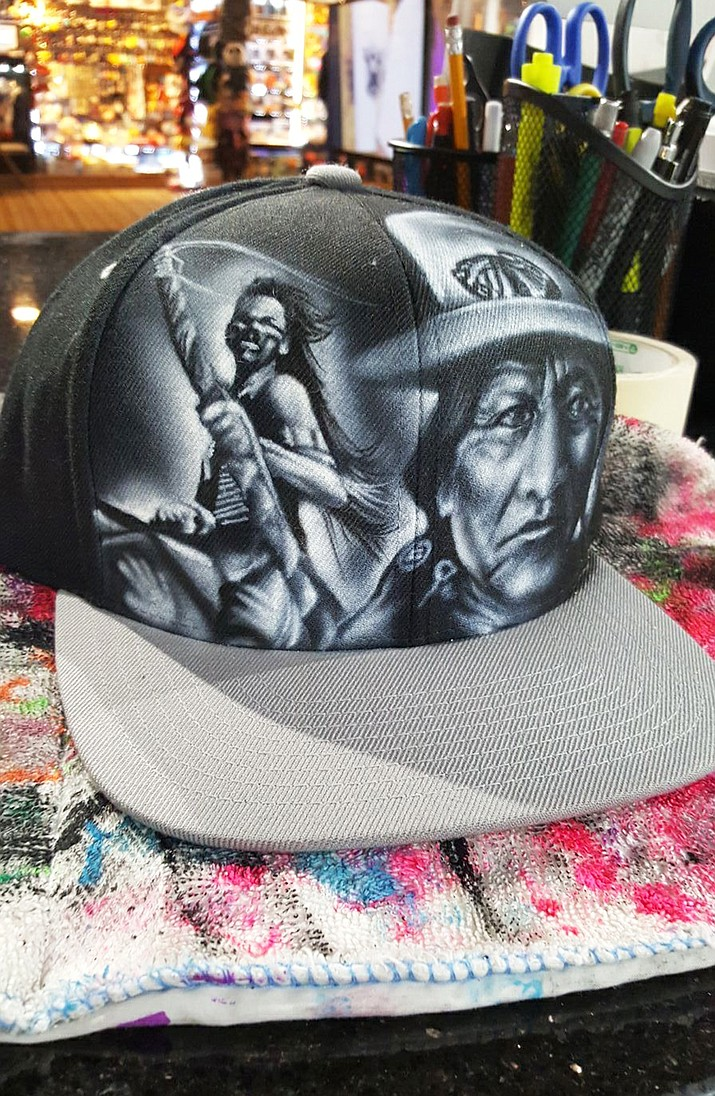 In May, Nate Tsosie, an airbrush artist from Page, Arizona will open a store at Universal Studios in Los Angeles called Airbrush Studios, where his work will be featured and for sale. (Submitted photo)