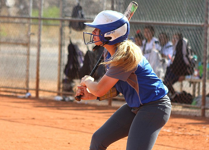 Kingman Academy's Jillian Winters tallied a hit and drove in a run Tuesday in an 11-1 win over Parker.
