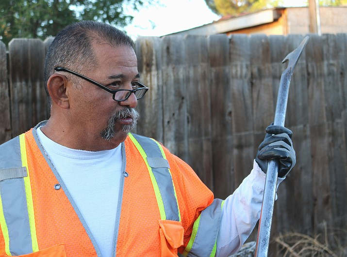 Alfred Mayo explains what it's like on the job for a meter reader, a job he's held for the City of Kingman for about a year and a half.